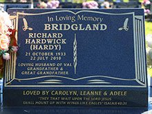 Bridgland Headstone