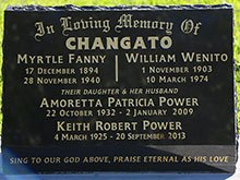 Changato Headstone