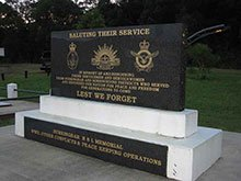 Saluting their service - public monument burringbar